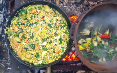 Crayfish Risotto with Wild Garlic